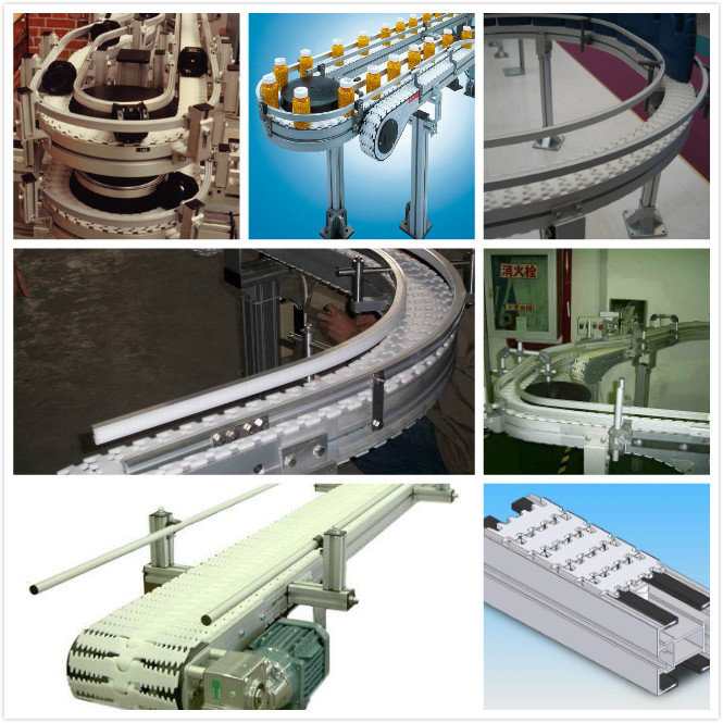 FLEXIBLE MODULAR CHAINS CONVEYOR