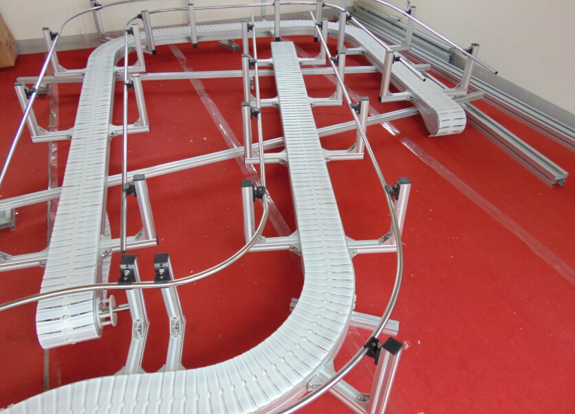 radius conveyor systems